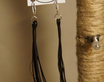 Ear whips made of bicycle hose handmade 925 silver