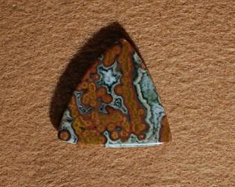 Free Form Ocean Jasper with Druzy Tumble Polished Cabochon
