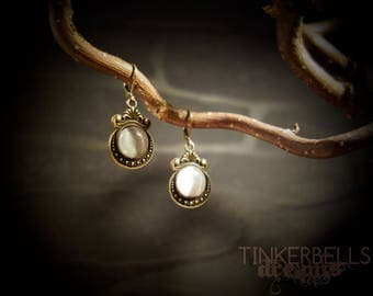 earrings pagan wicca wiccan medieval gothic celtic vintage victorian antique bronze gift set white