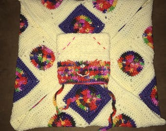 Crochet Baby Blanket & Hat