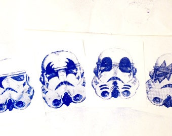 SET of Four – Kiss glitter troopers – starwars Xmas special offer