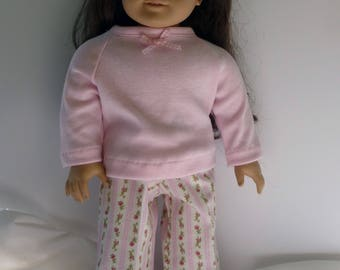 """18"""" Doll Pajama's in Pink"""