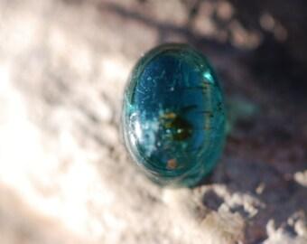 Indicolite Tourmaline Cabochon, Beautiful, Dark Blue, Green, Oval, 12.5 x 9mm, approx. 7ct, Brazil, C3178