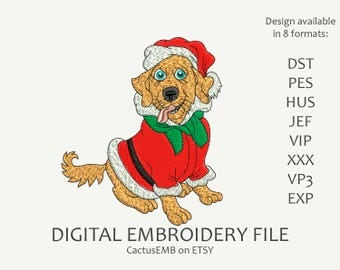 INSTANT DOWNLOAD - Santa's Little Helper machine embroidery design. Christmas embroidery. New Year. Merry Christmas. Embroidery design