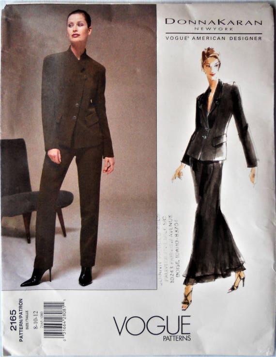 Vogue 2165. VTG Donna Karan fashion pattern. Donna Karan formal ...