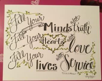 Hand-lettered Print