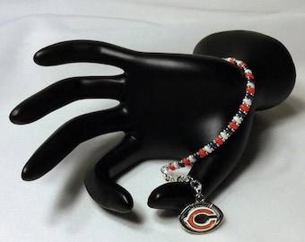Authentic Chicago Bears NFL Football Bracelet