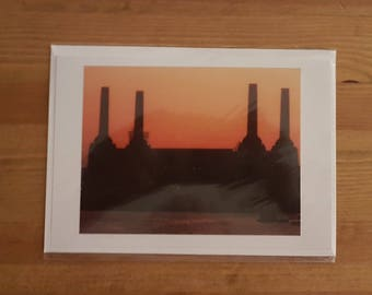 Greeting card/print London Battersea Power Station Black and White Photograph