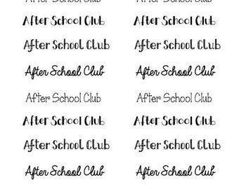 After school club script stickers