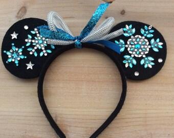 Winter /Christmas themed Disney/Mickey/Minnie ears