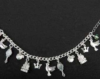 Disney inspired Snow White charm bracelet ~