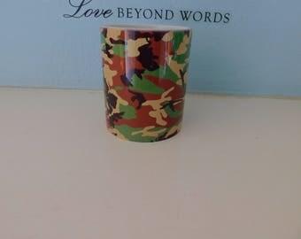 Camouflage green mug