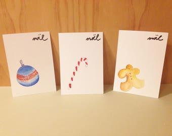 Handmade Christmas Postcards