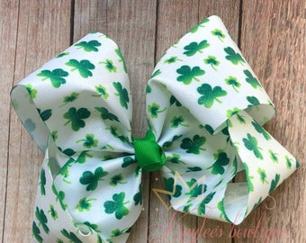 Glitter ShaMrocks boutique bow