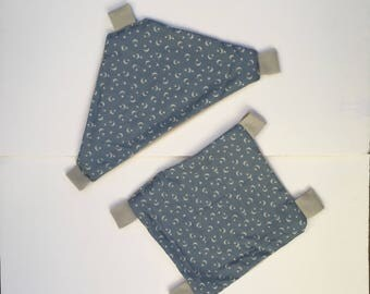 Set of Two Blue Hammocks Sugar Glider or Rat Hammock, Rat Cage Accesories