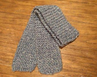 Light blue Handmade Knit Scarf