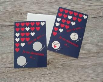Scratch - st Valentine-request wedding card
