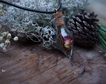 Rose Petal Nature Necklace