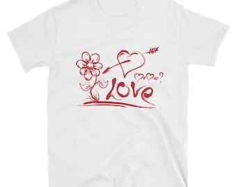 Arrow through the Heart in Love - short sleeve unisex t-shirt