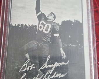 CFL  1961 Topps   CFL Football 87 Bob SIimpson  ROUGHRIDERS