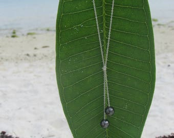 Tie 2 Tahitian Pearl Necklace