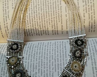 White Cleopatra necklace