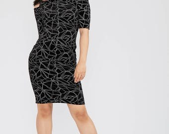 Velour Cold Shoulder Mini Dress