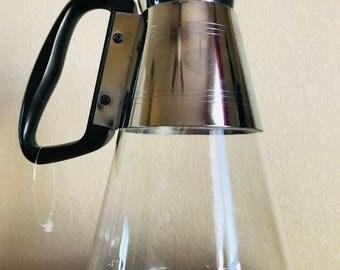 Vintage Pyrex Glass Coffee Pot Silex Co.