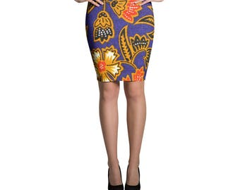 Petals Pencil Skirt