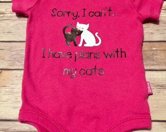 Sorry I Can't...I Have Plans with my Cat Bodysuit
