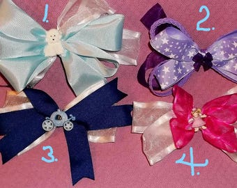 Hair Bows, Boutique overstacked bows, Fancy Bow, decorative center, Girls hair bow, Easter Bow, Princess Bow, Pinwheel Bow, Choose bow below