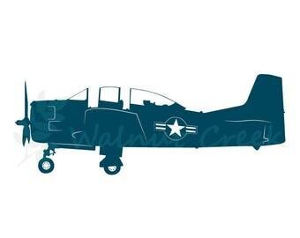 Vintage Airplane Vector Art
