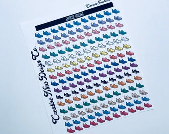 Yearly Exercise Tracker for Passion Planner, Bullet Journal Planner Stickers, Tracker Stickers