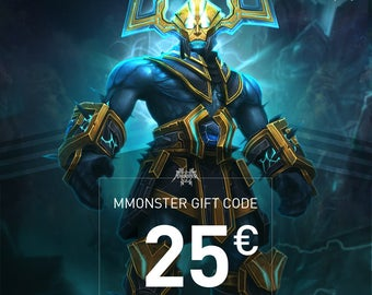 """Voucher to print for Mmonster """"Happy Birthday"""" Gift Card Code for your best friend - Value 25 Euro"""