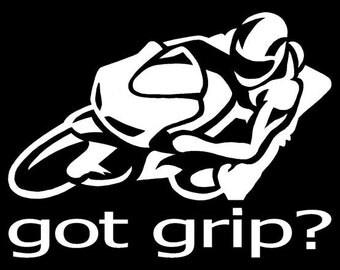 Got Grip? Sportbike decal sticker Laptop Window Car Truck Motorcycle Biker Moto Sale