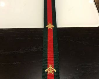 Free Shipping GUCCI bee stripe 2 meters Top quality Stripe belt Patches Embroidery Emblem Logo Brand for clothes hats fashion 2018