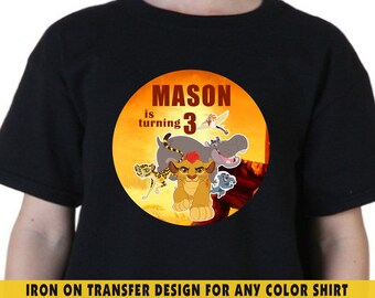 Lion Guard Iron On Transfer , Lion Guard DIY Shirt Transfer , DIY Lion Guard Birthday Shirt , Lion Guard , Any Name , Any Age , Digital File