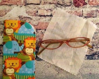Loin Eyeglass case /Elephant Eyeglass Case / Monkey Eyeglass Case / Alligator Eyeglass Case