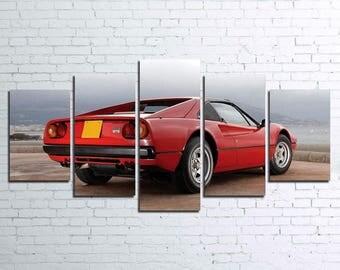 77 Ferrari 5pc Wall Canvas