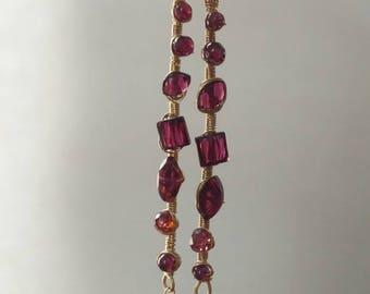 Garnet drops