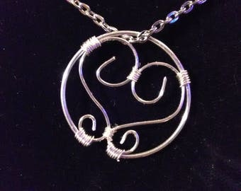 Circled Heart Pendant