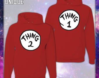 THING 1 OR THING 2 Hoodie Sweatshirt-Unisex