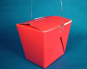 100 Red Favor Boxes Chinese Take Out Boxes Gift Favors Birthday Anniversary Bridal Wedding Favors Bags Valentines Day Christmas Fourth July