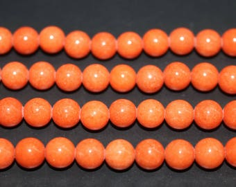 15 Inches Full strand,5 Strands Orange Mountain jade round beads 6mm 8mm 10mm Jade Beads Wholesale,loose beads,semi-precious stone
