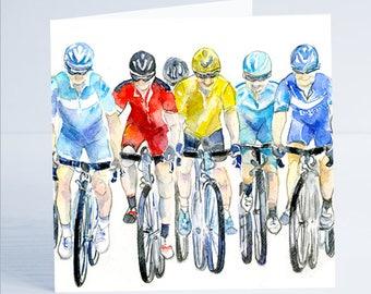 On Ya Bike Greeting Card - Taken from an original watercolour by Sheila Gill