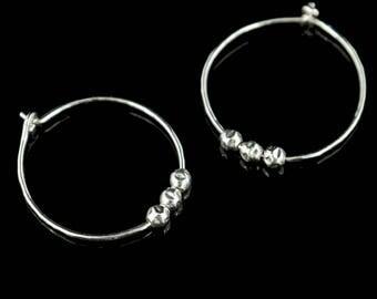 Sterling Silver Hoop Earrings - Kacie. Free Gift Wrapping