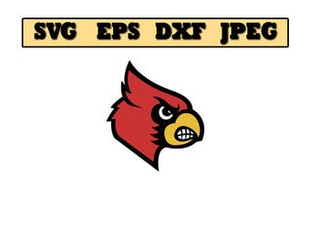 Louisville Cardinals SVG File - Vector Design in, Svg, Eps, Dxf, and Jpeg Format for Cricut and Silhouette, Digital download !!!!!!!!!!!!!!