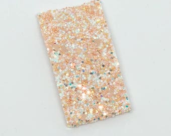 Peach Fuzz Flat Snap Clip - Chunky Glitter - Snap Clips - 50mm Clips -
