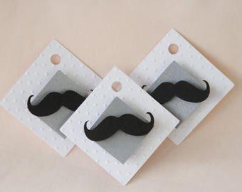1 dozen Mustache Tags