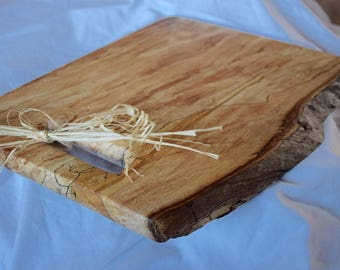 Live Edge Spalted Maple Charcuterie Board- Big Leaf Maple Serving Board